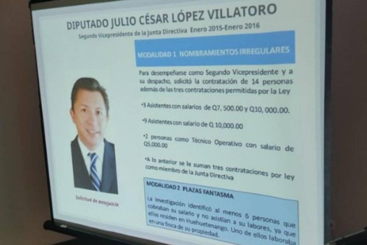 Exdiputado Julio César López Villatoro