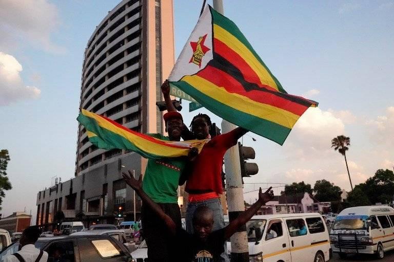Manifestación en Zimbabue