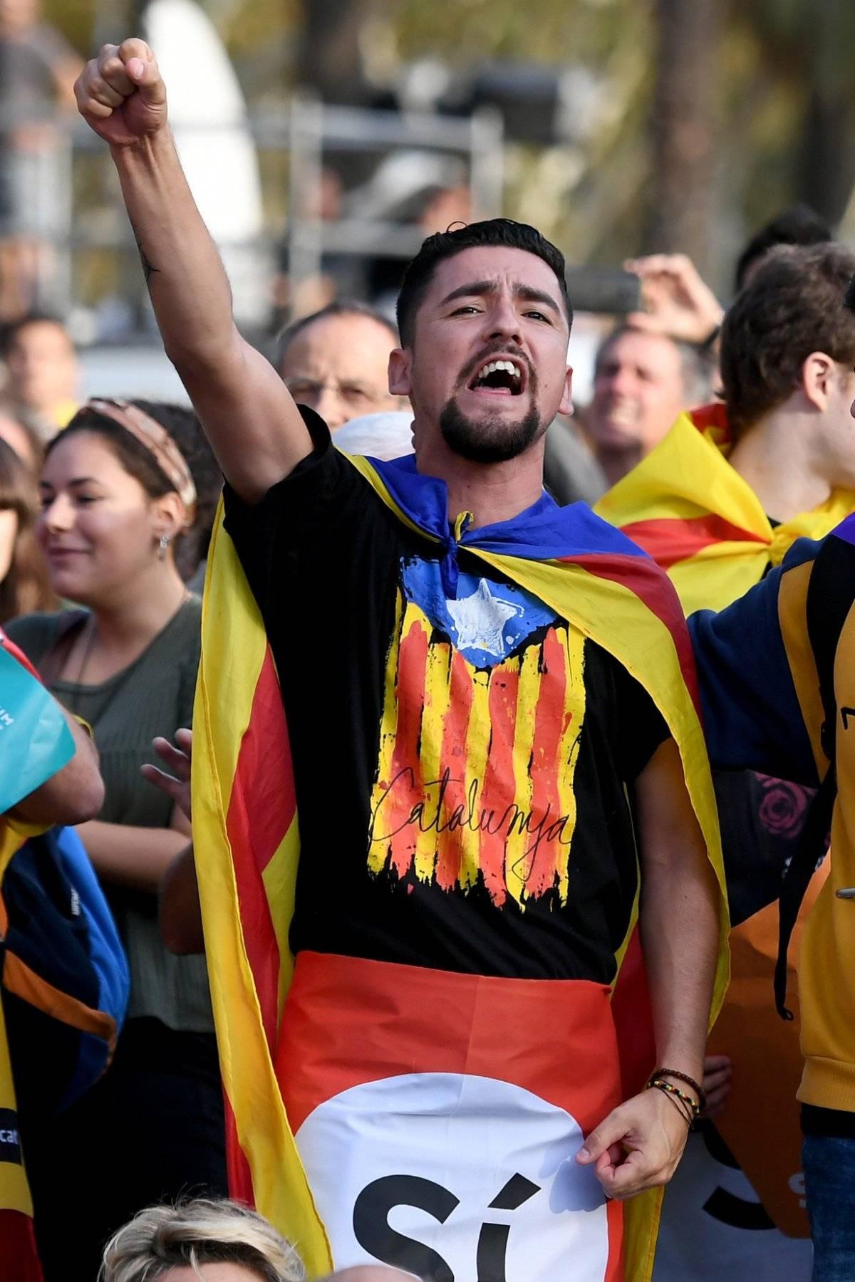 El movimiento separatista en Cataluña. |getty