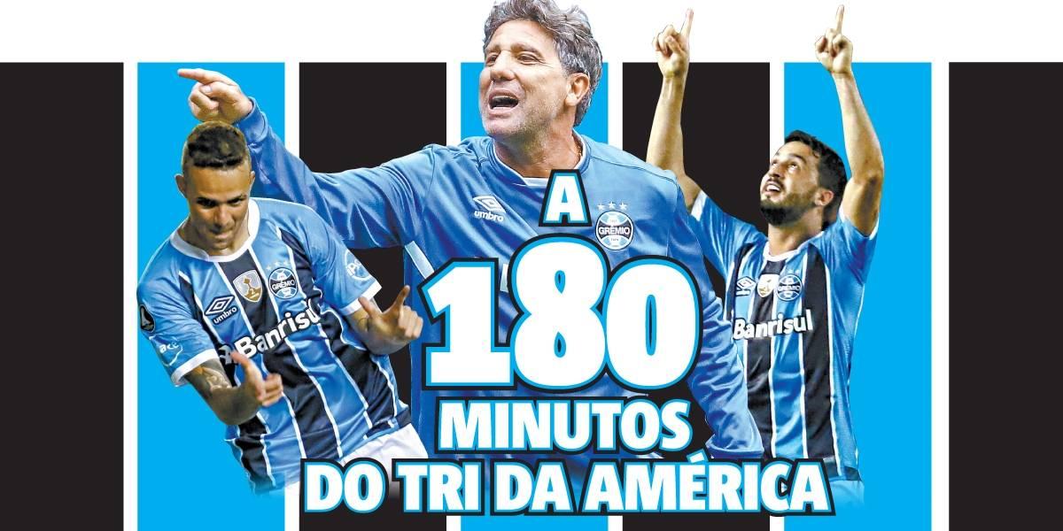 Grêmio faz o primeiro jogo da final da Libertadores contra o Lanús