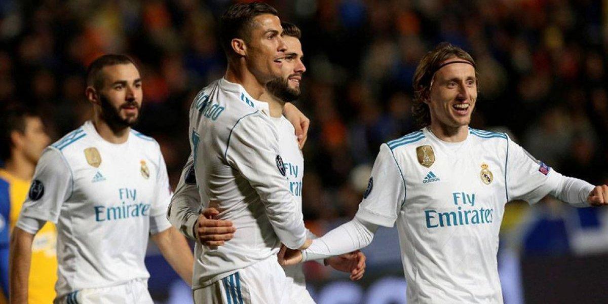Real Madrid golea 6-0 y pasa a octavos de final de la Champions