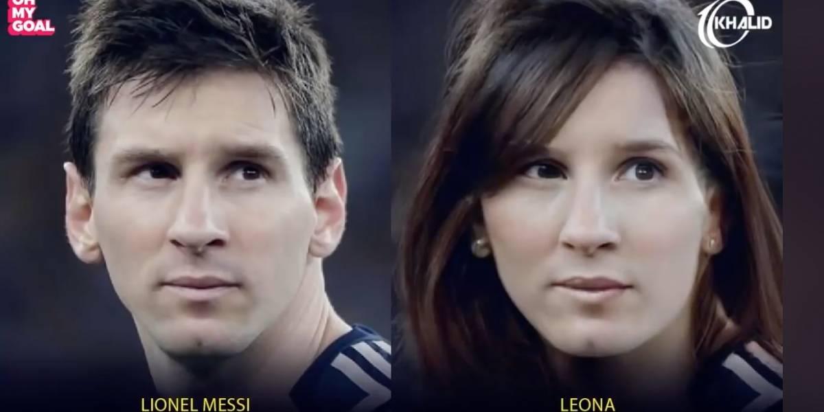 ¿Cómo se verían los futbolistas estrellas si fueran mujeres?