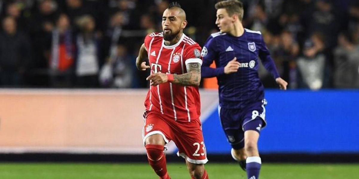 Con Vidal de titular, Bayern Munich derrotó a Anderlecht