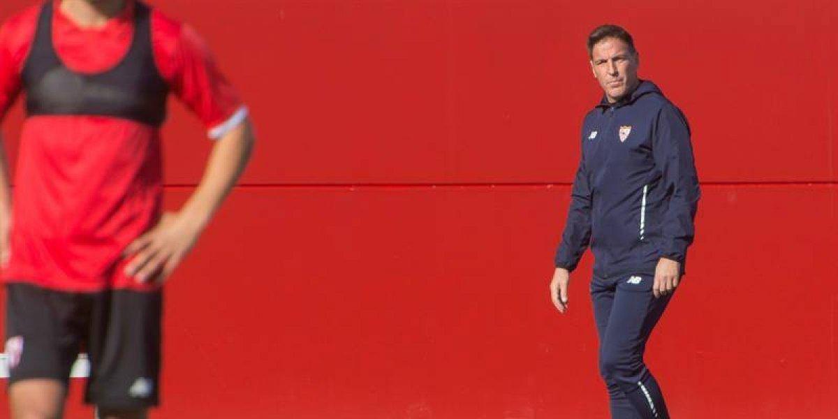 Berizzo no se amilana y dirige la práctica del Sevilla pese a confirmación del cáncer