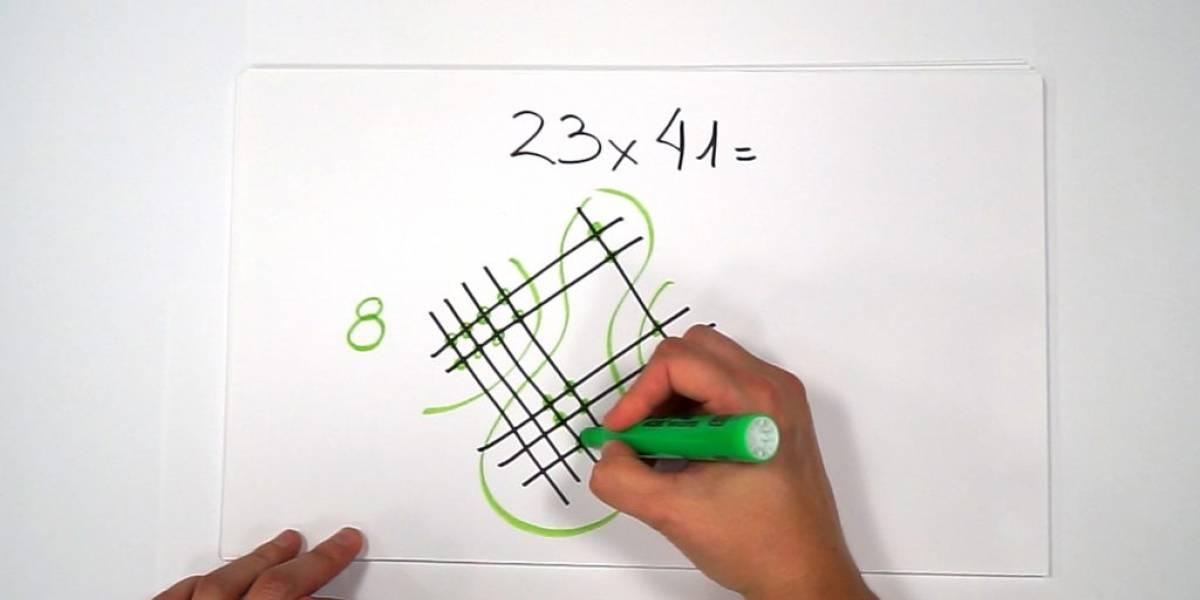 ¿Te cuesta multiplicar? Los métodos con dibujos maya, hindú y de formación operacional pueden ayudarte