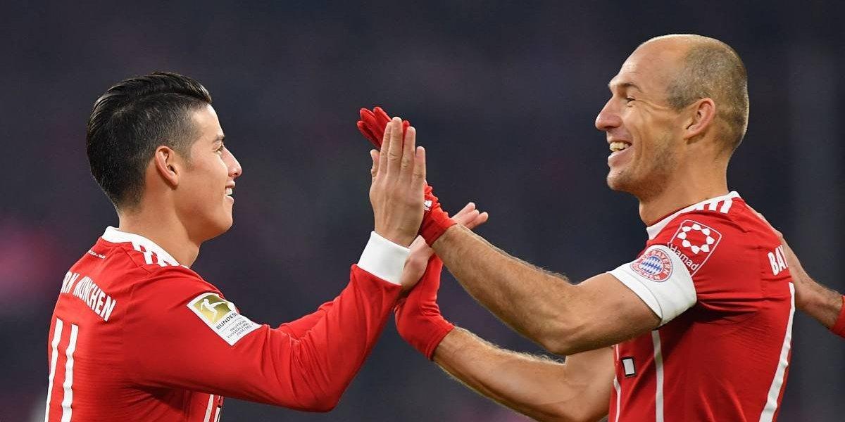 ¡James, el bávaro! El colombiano guió el triunfo del Bayern en Bélgica
