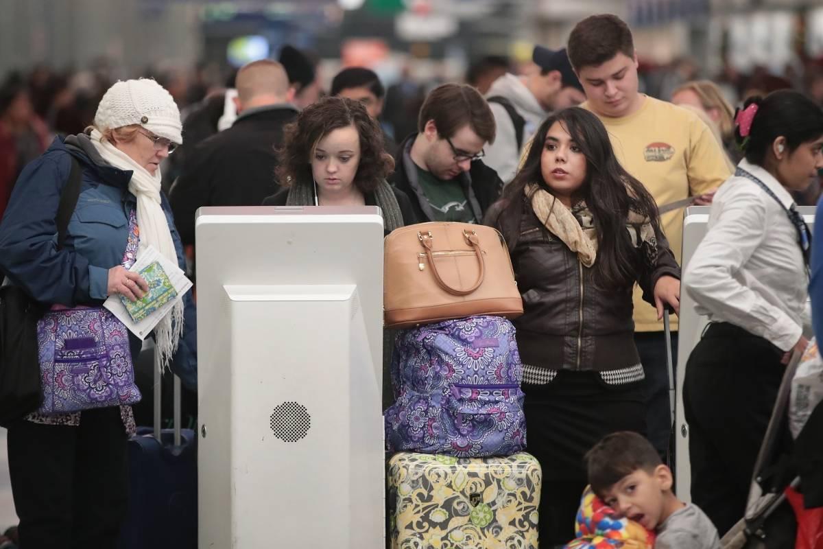 3.95 millones viajarán vía aérea con motivo del Thanksgiving Foto: Getty Images