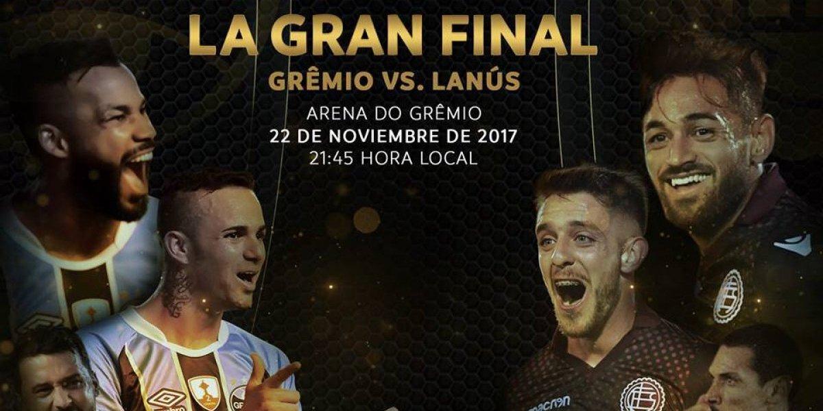 Gremio vs. Lanús: horario, dónde y cuándo se juega la final de la Copa Libertadores