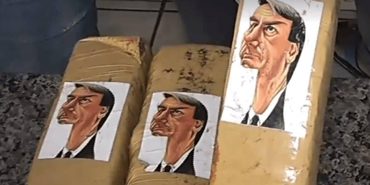 Maconha com caricatura de Bolsonaro é apreendida pela Polícia