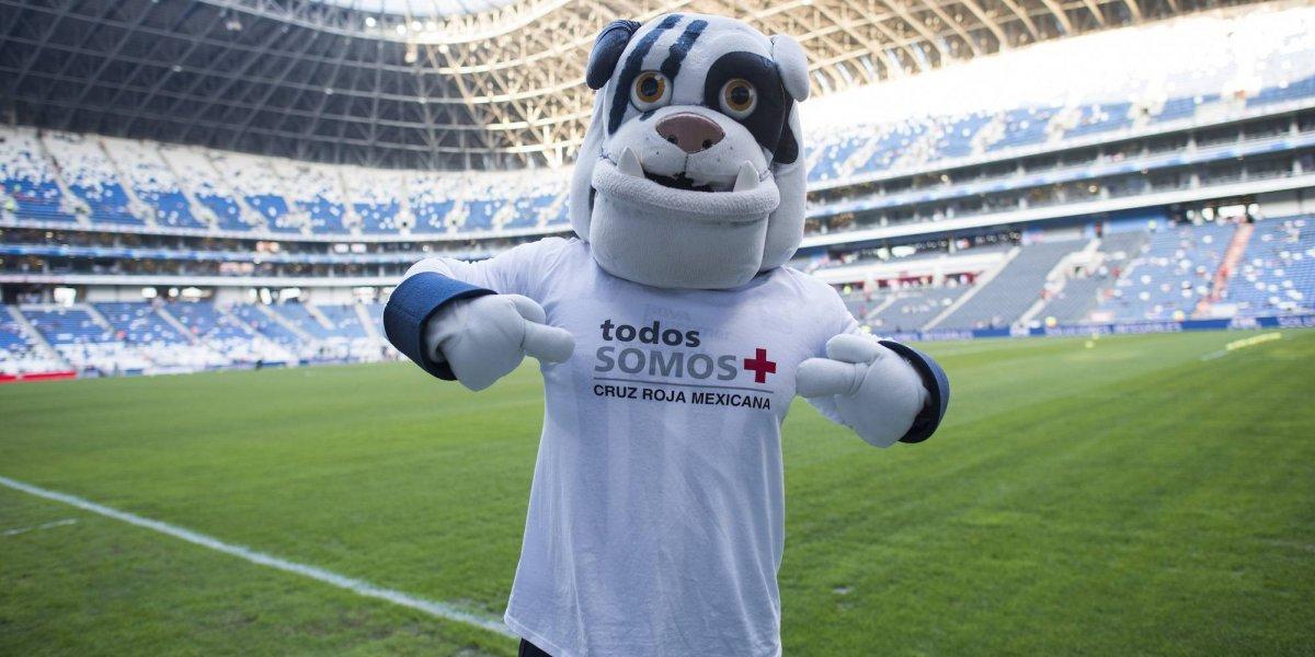 Denuncian robo a 'Monty', la mascota de Rayados de Monterrey