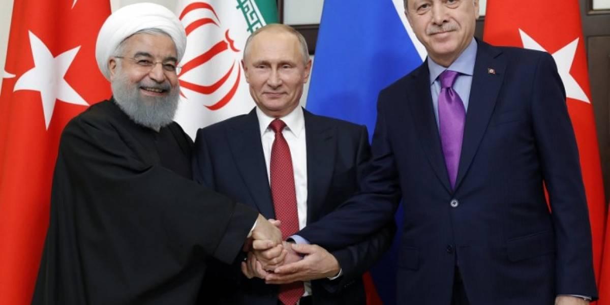 Putin consigue respaldo de Turquía e Irán para una reunión sobre Siria