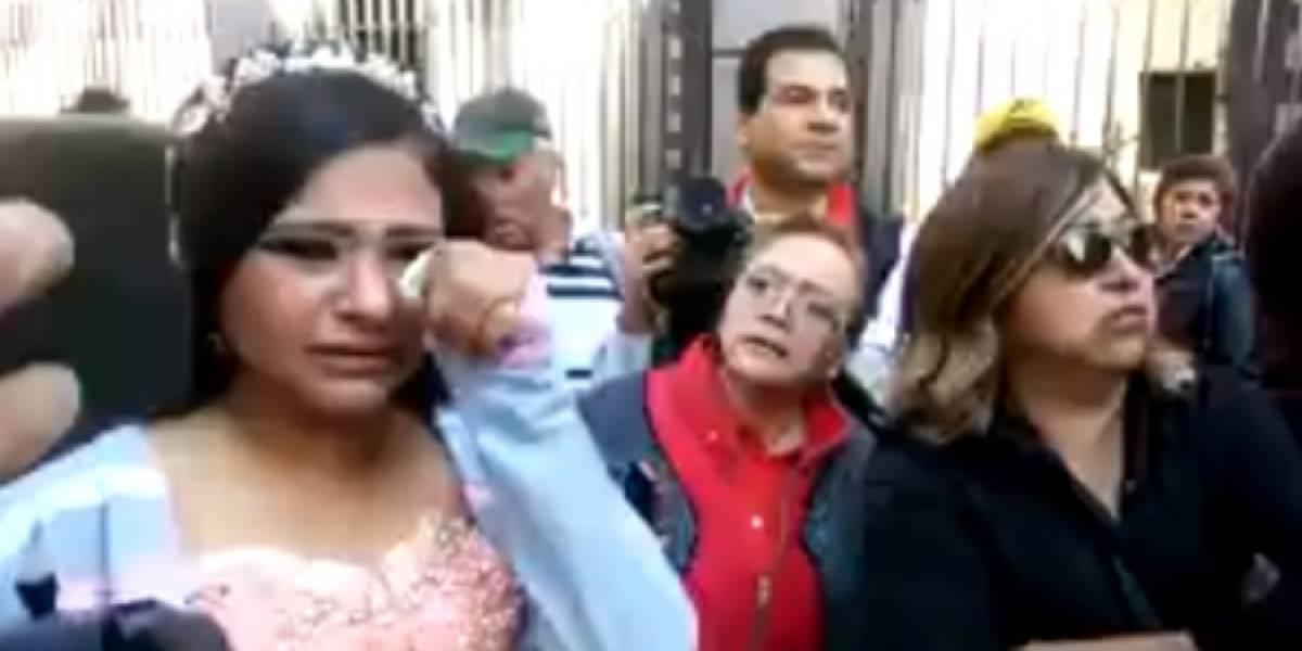 VIDEO: Policías hacen llorar a quinceañera en el Centro Histórico