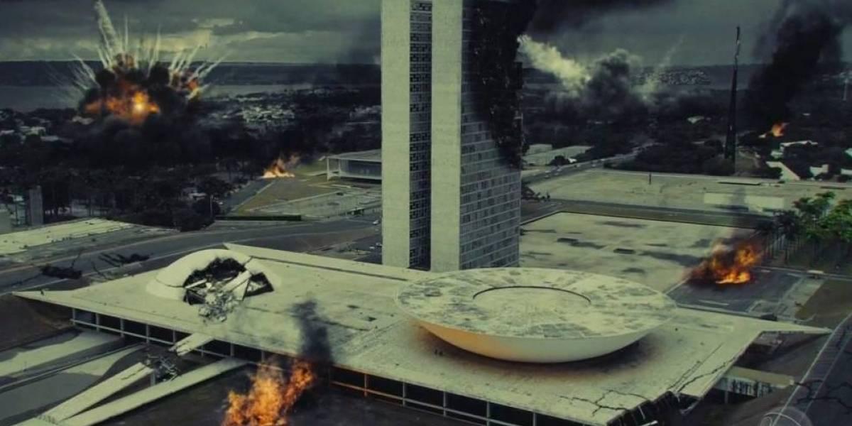Abertura de Apocalipse, nova novela da Record, mostra Brasília em chamas