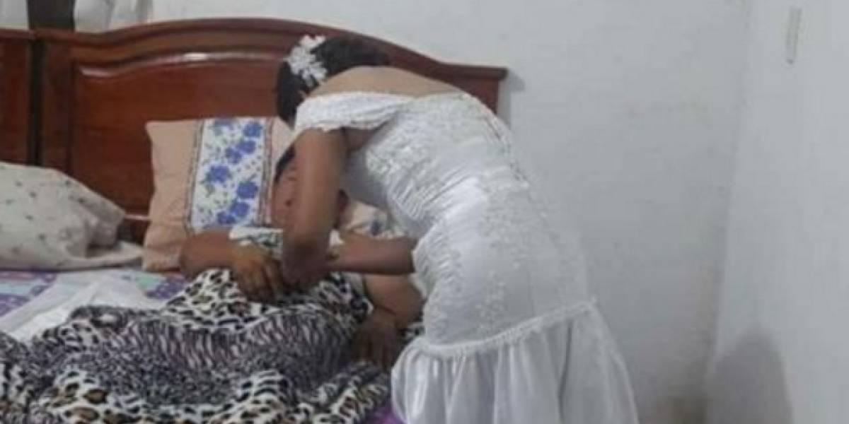 Enfermera abandona su boda para atender a paciente en Tabasco