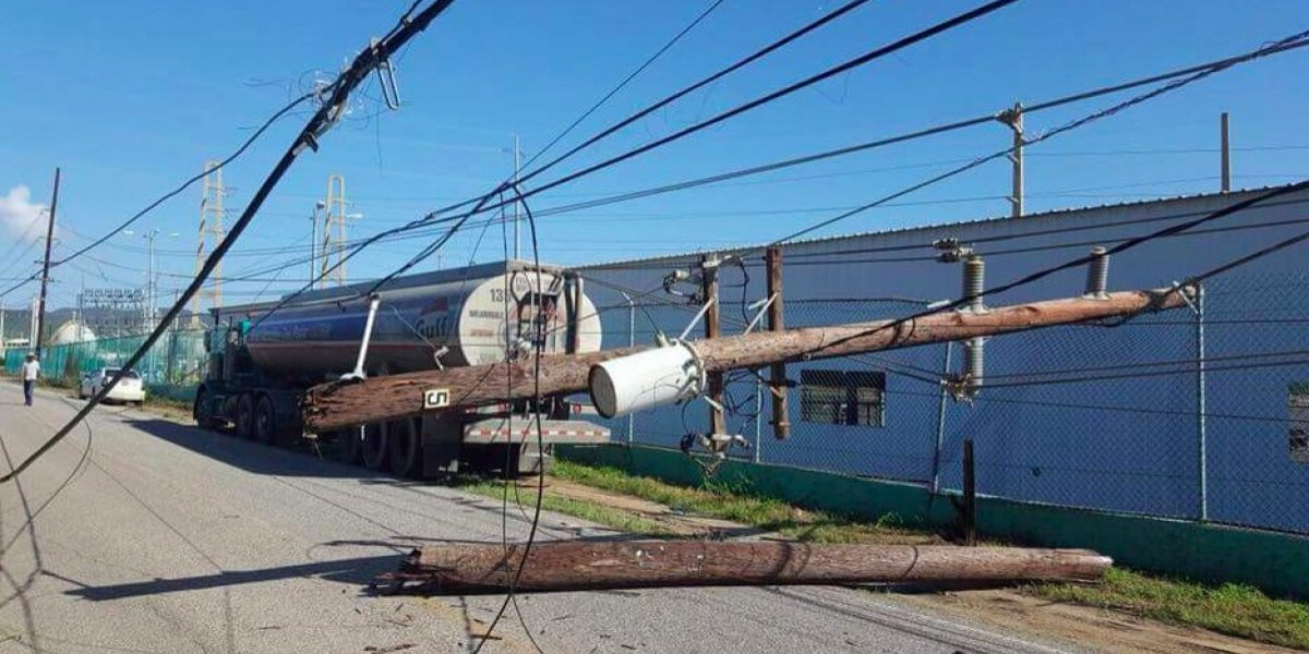 Accidente con camión vuelve a dejar a oscuras a Peñuelas