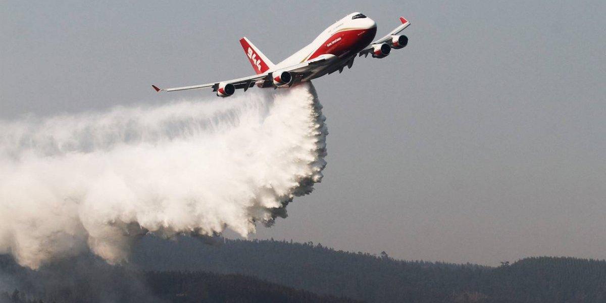 Incendios forestales: un sólo Supertanker alcanza la capacidad de casi toda la flota de Conaf