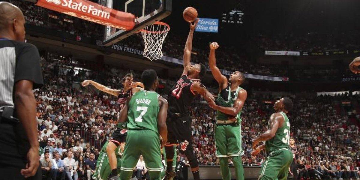 Miami frenó la racha de 16 triunfos seguidos de Boston en la NBA