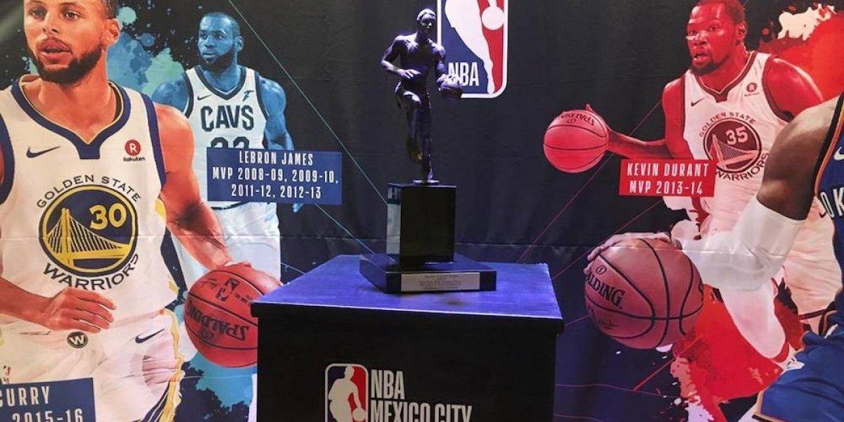 Trofeo de MVP de la NBA se encuentra en la CDMX