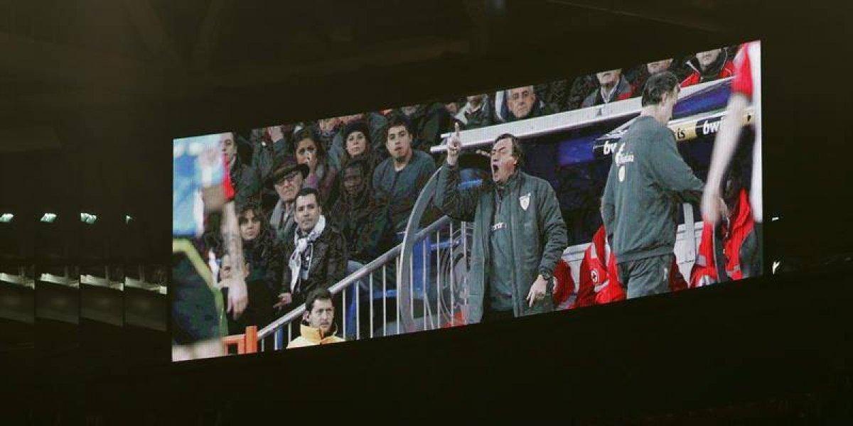 San Mamés se convirtió en el primer estadio en rendirle homenaje a Bonini