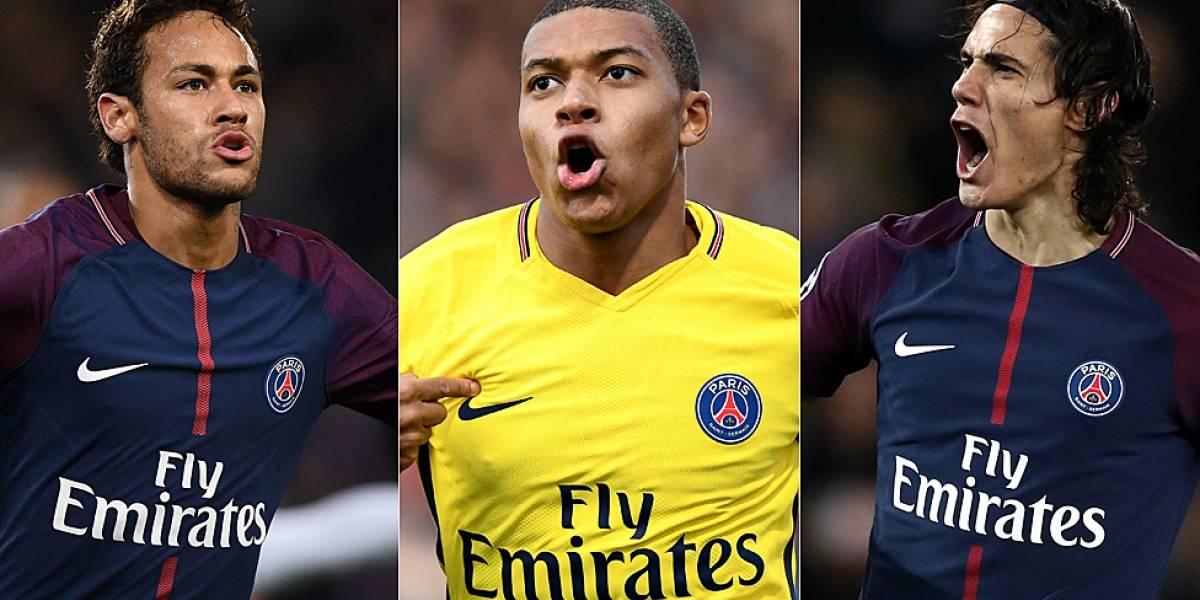 El impresionante ritmo goleador del tridente del uruguayo Edinson Cavani, el brasileño Neymar y el francés Kylian Mbappé que amenaza los récords en el fútbol europeo