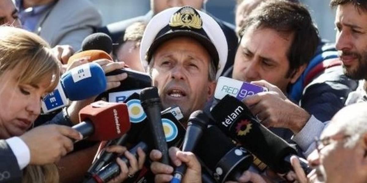 """Armada argentina confirma un ruido """"consistente con una explosión"""" cerca de donde desapareció el submarino ARA San Juan"""