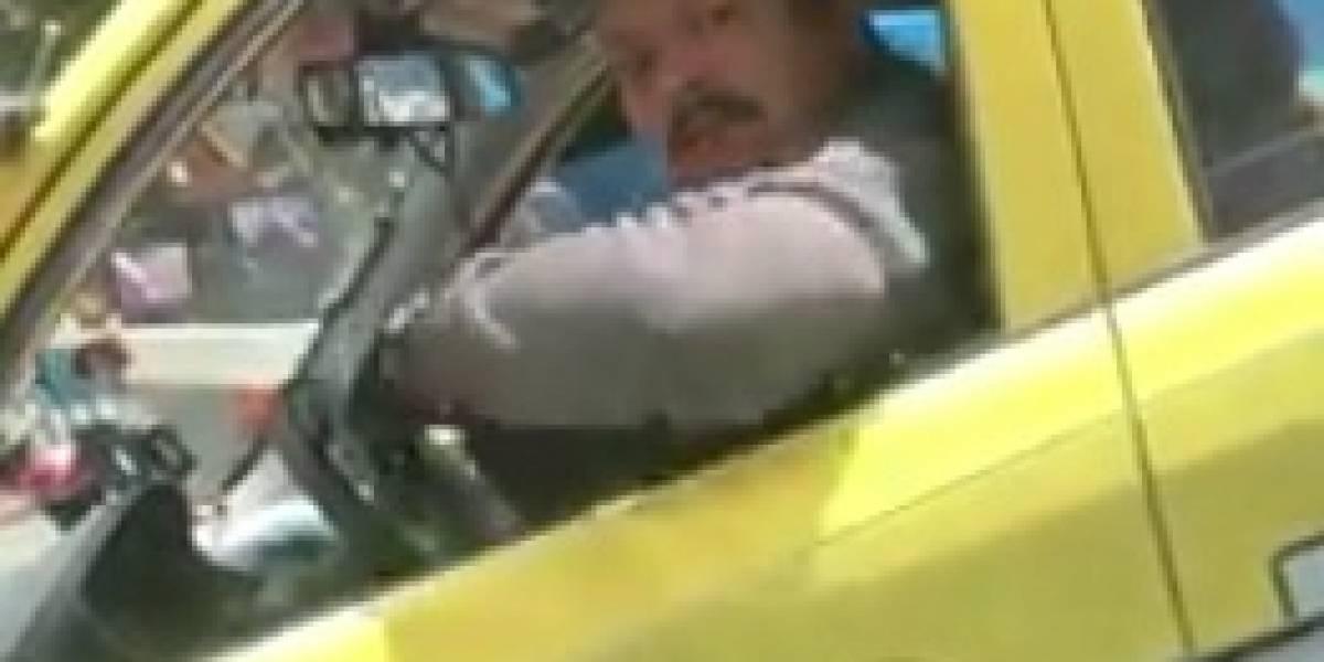 Video: Los madrazos que un taxista le echó a una conductora en Bogotá