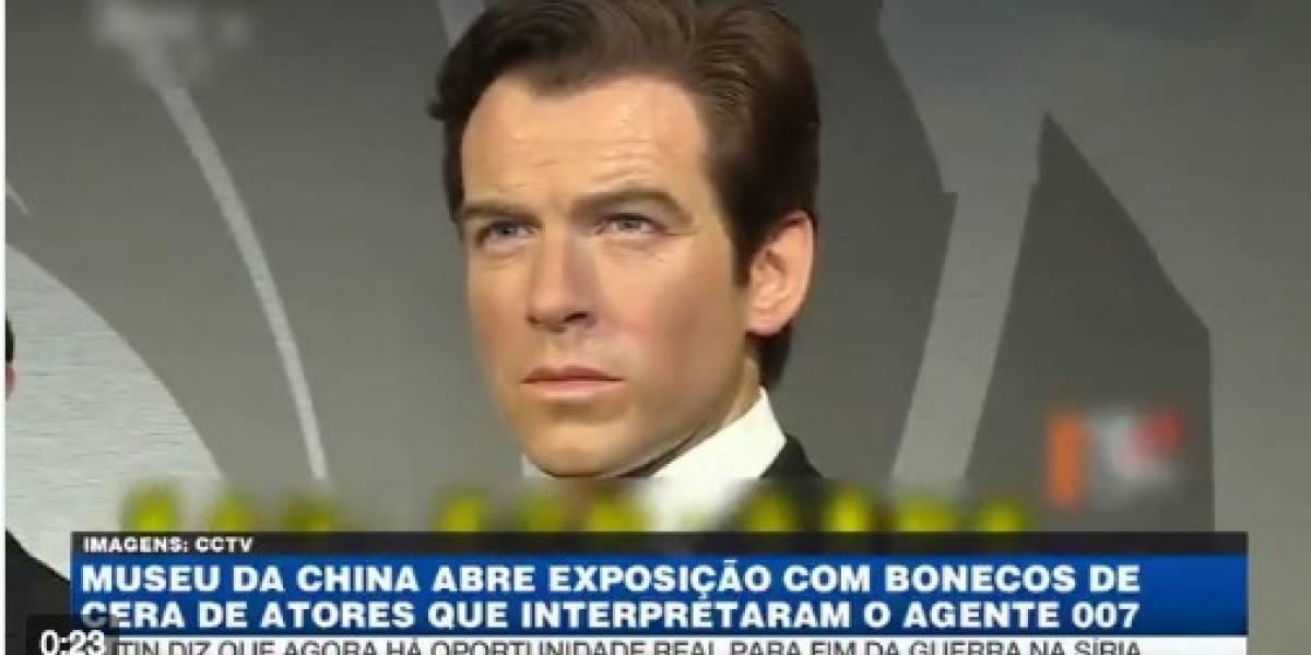 Museu da China abre exposição com bonecos de cera de atores que interpretaram James Bond