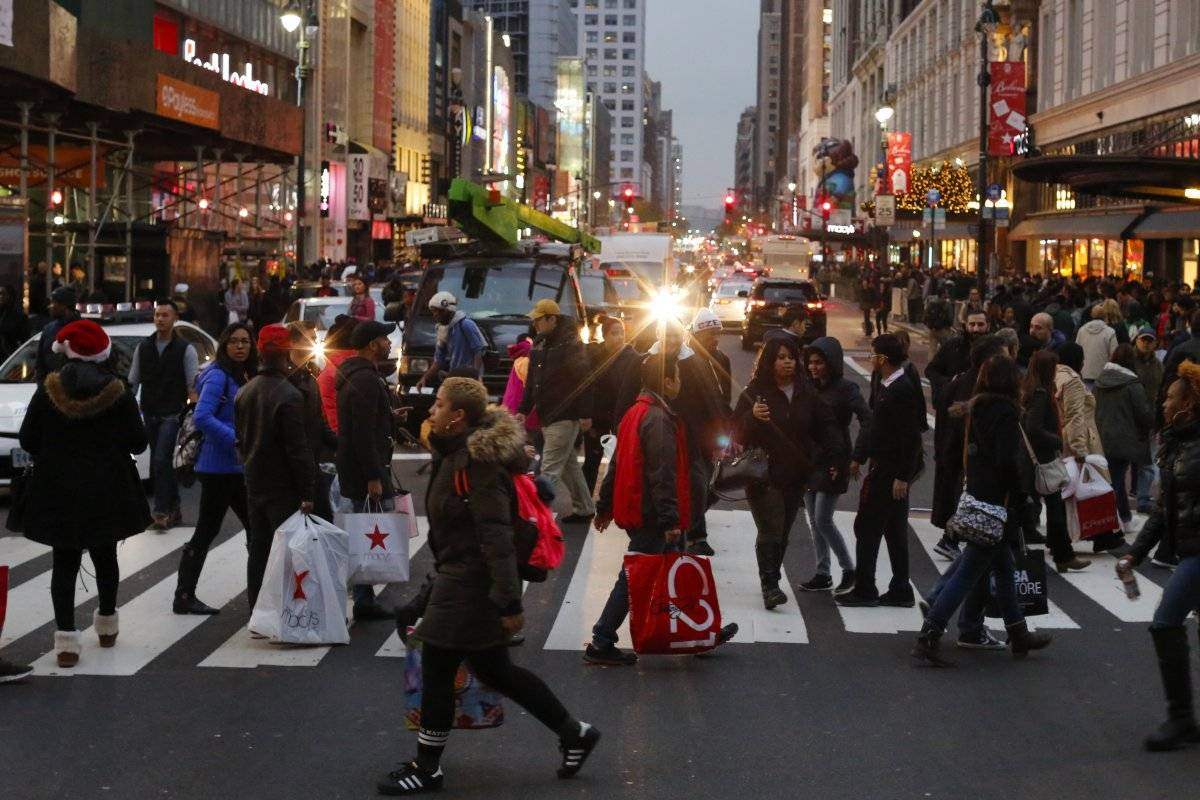 "Nueva York en el ""Black Friday"" de 2016."