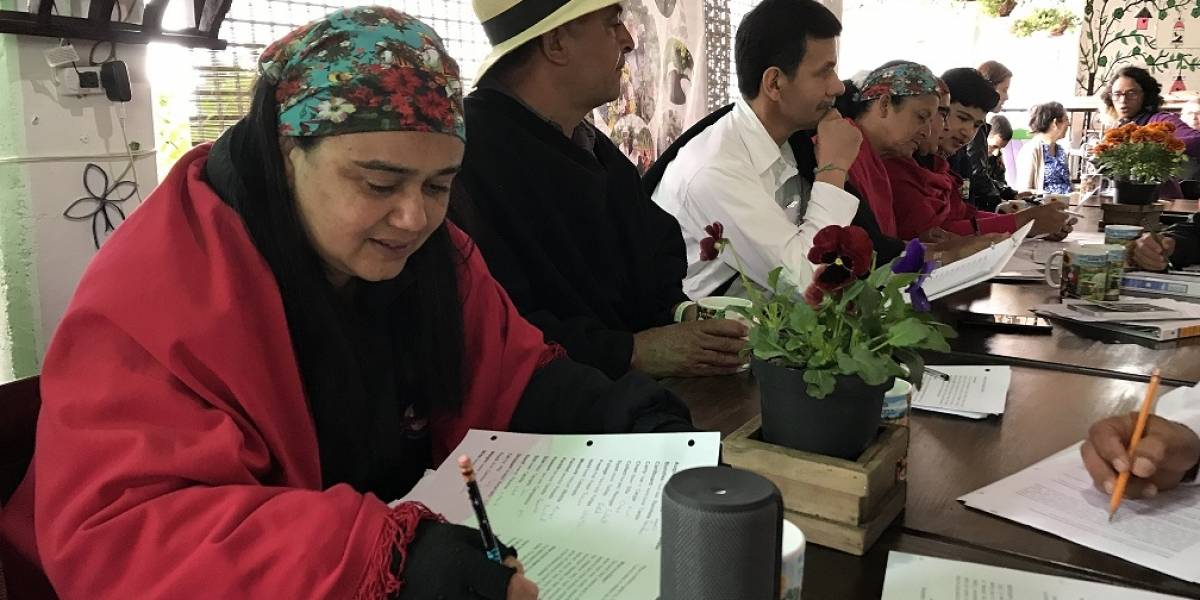 Silleteros en Medellín se le miden a aprender inglés