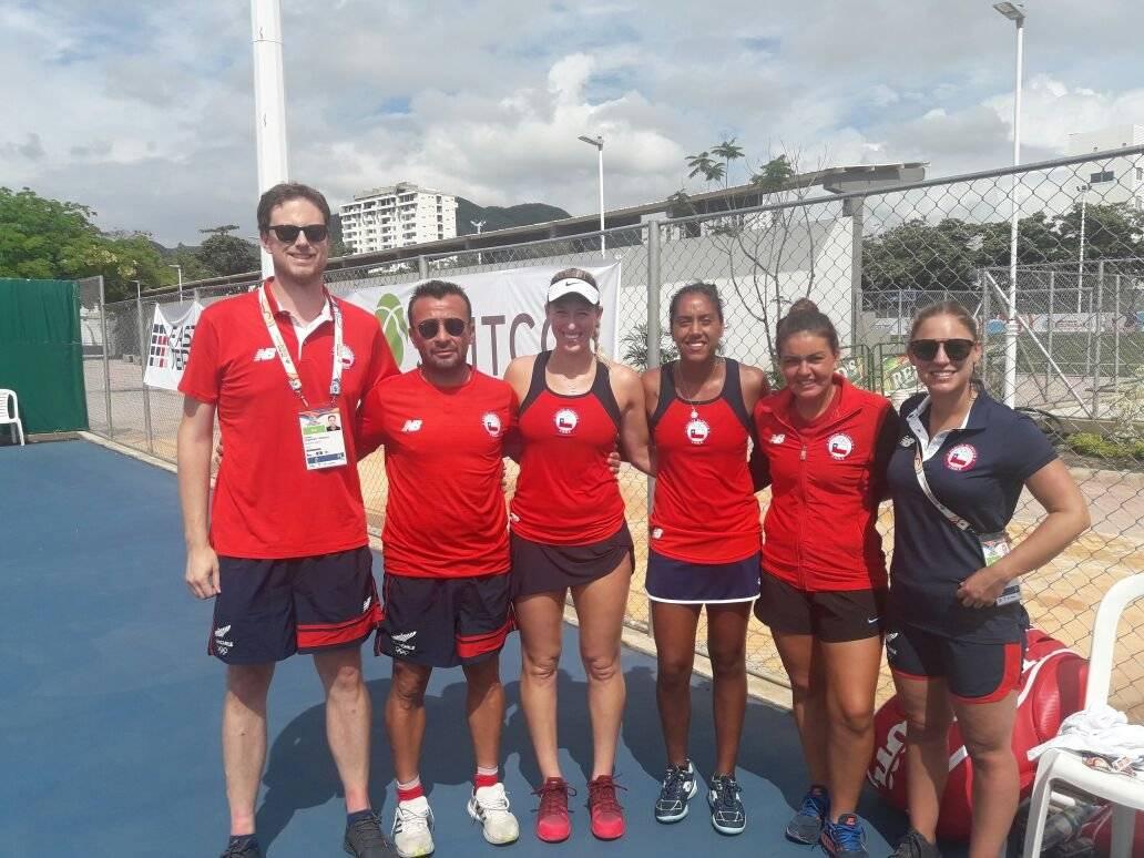 El equipo chileno en pleno