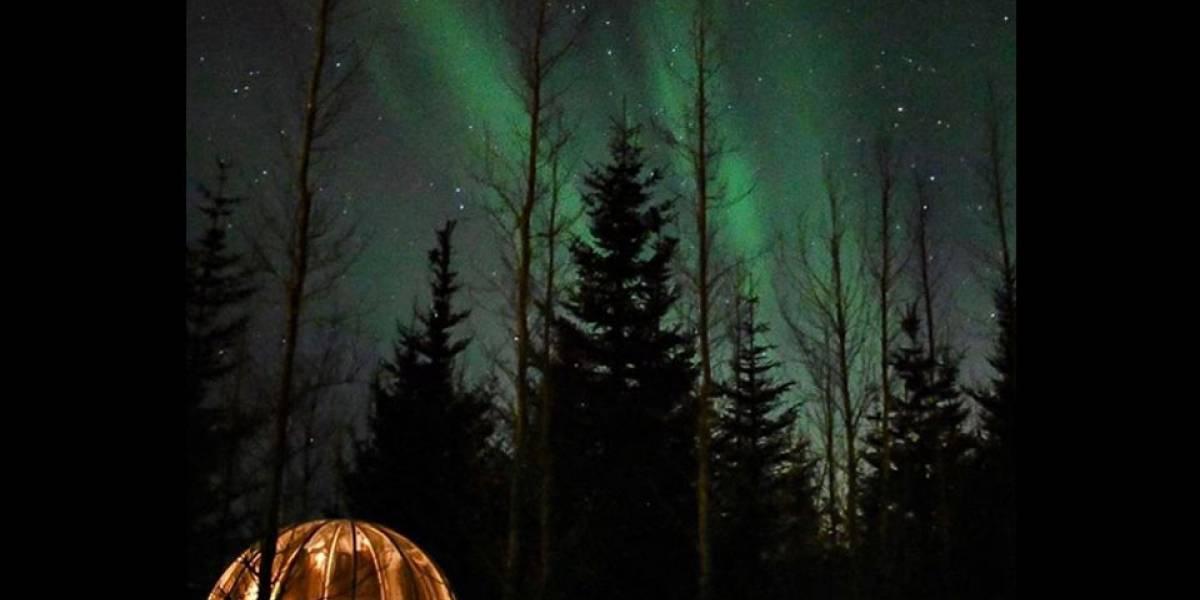Que tal curtir a aurora boreal dentro de uma bolha?