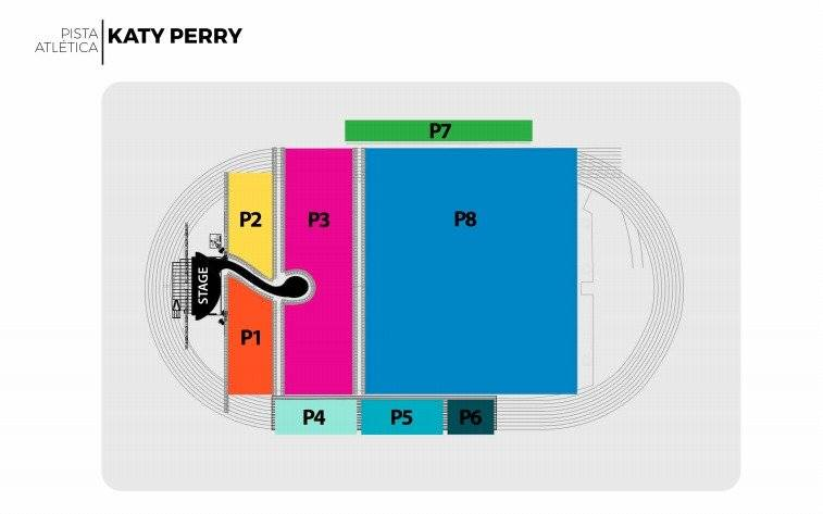 Localidades Katy Perry
