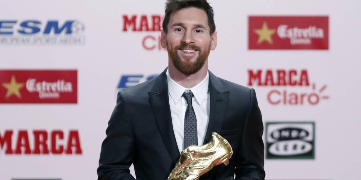 Messi recibe su cuarta Bota de Oro y evita hablar de su renovación en el Barcelona FC