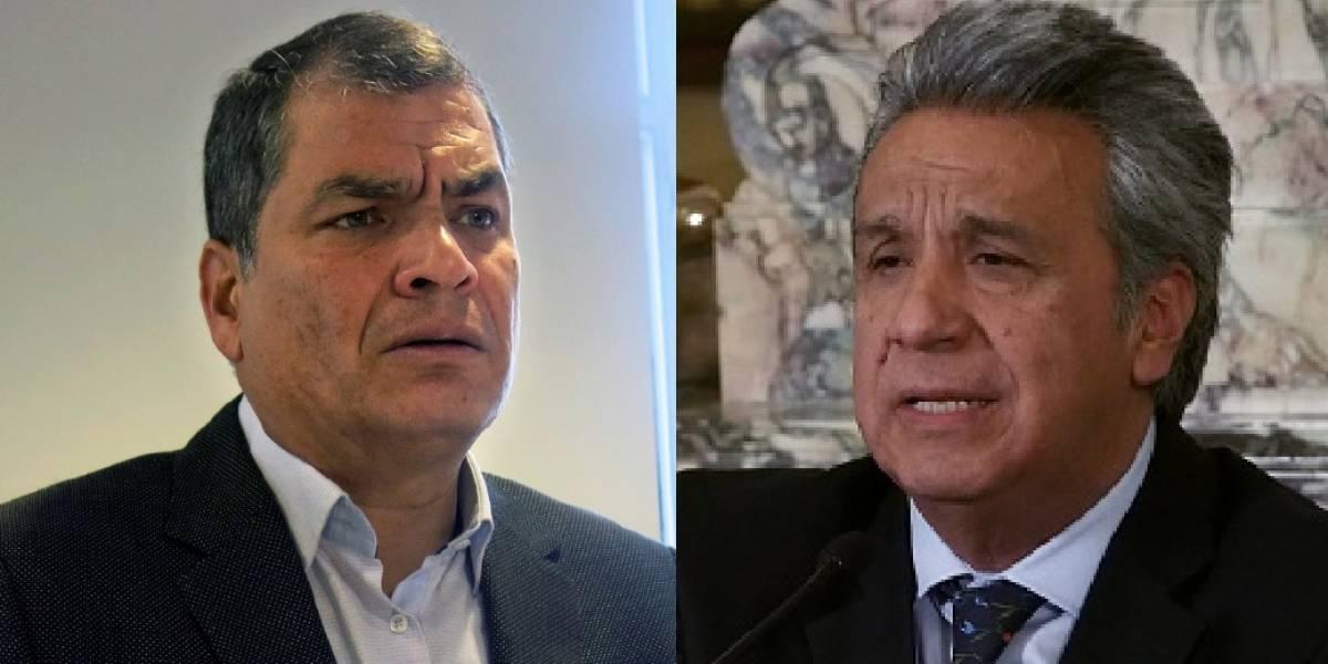 Rafael Correa responsabiliza a Lenín Moreno de los problemas económicos del país