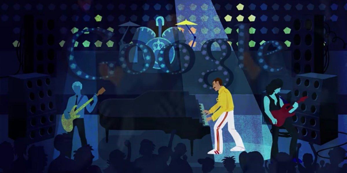 En el aniversario de la muerte de Freddie Mercury: Publimetro te recuerda el Doodle dedicado al genio de Queen