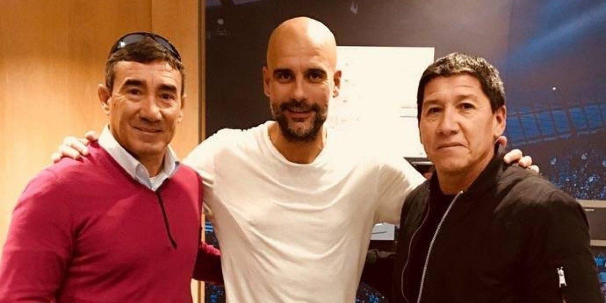 El Pillo Vera compartió con Pep Guardiola en las instalaciones del City