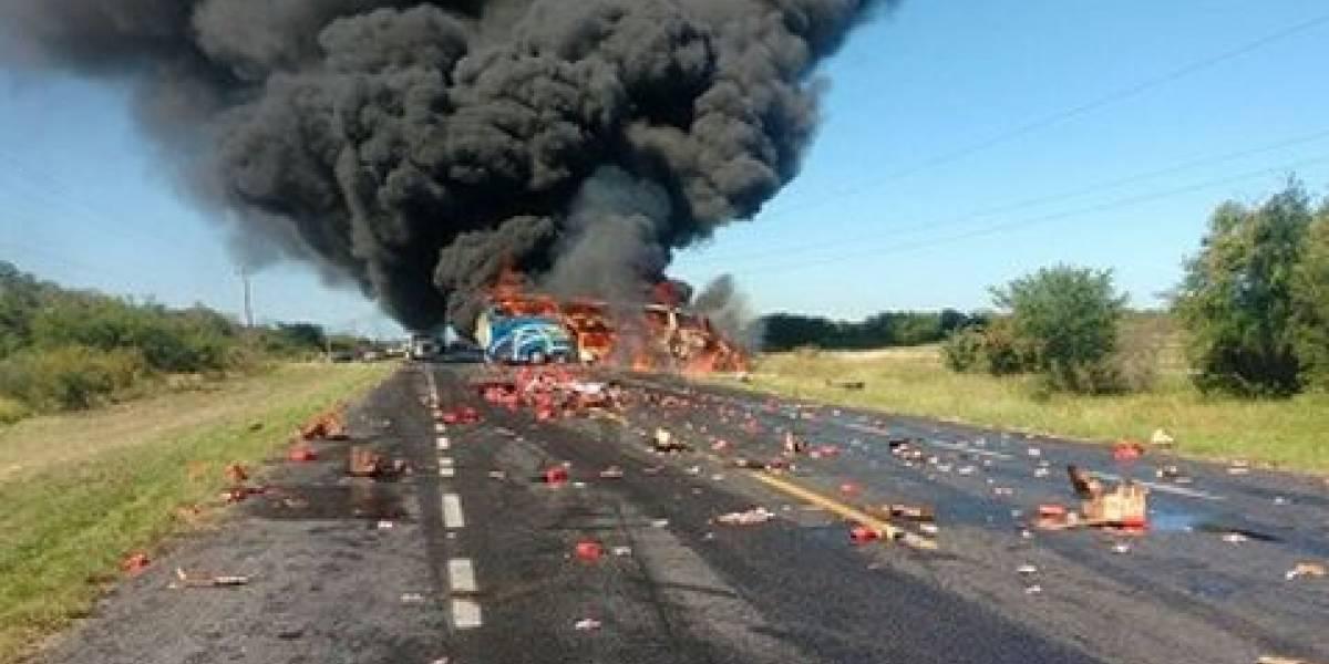 Al menos 3 muertos por choque en carretera Cd. Victoria - Monterrey