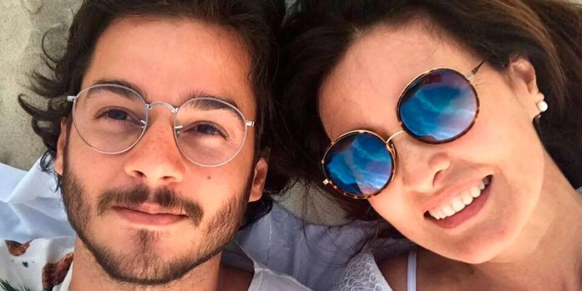 Fátima Bernardes posa com namorado: É o que me interessa