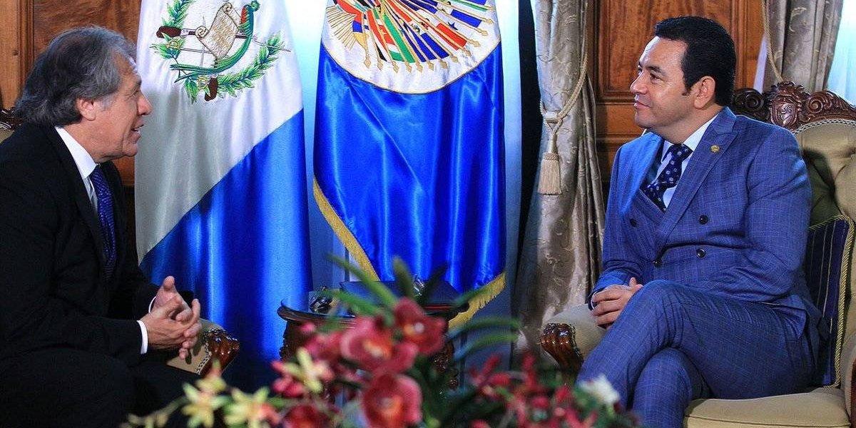 Con reunión con Morales, secretario general de la OEA inicia agenda en Guatemala