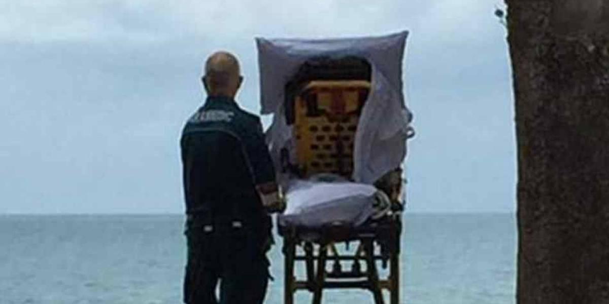 Paciente terminal pede para ver oceano e comove internautas
