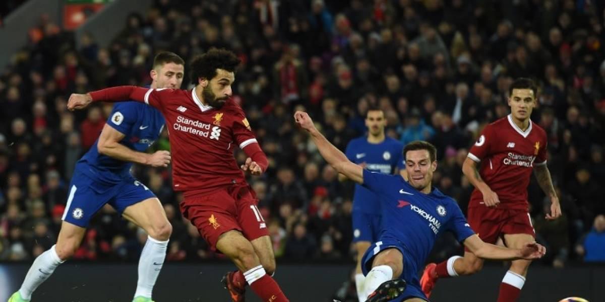 Liverpool y Chelsea igualan en una dura batalla por seguir la estela del City en lo alto de la Premier