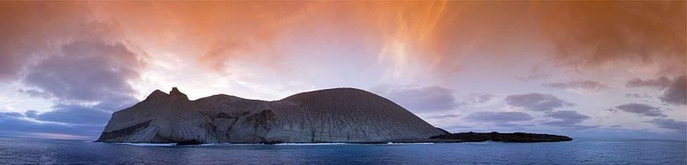 La Isla San Benedicto, una de las cuatro que forman el archipiélago de Revillagigedo, en el Pacífico mexicano. Getty Images