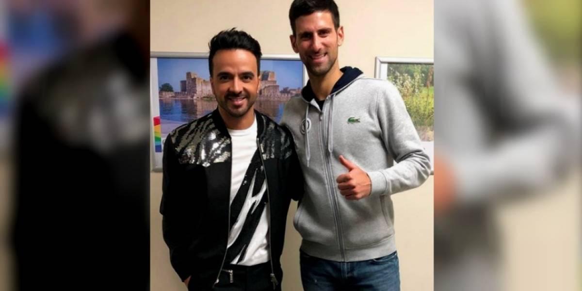 FOTO: Así fue el encuentro de Djokovic con Luis Fonsi