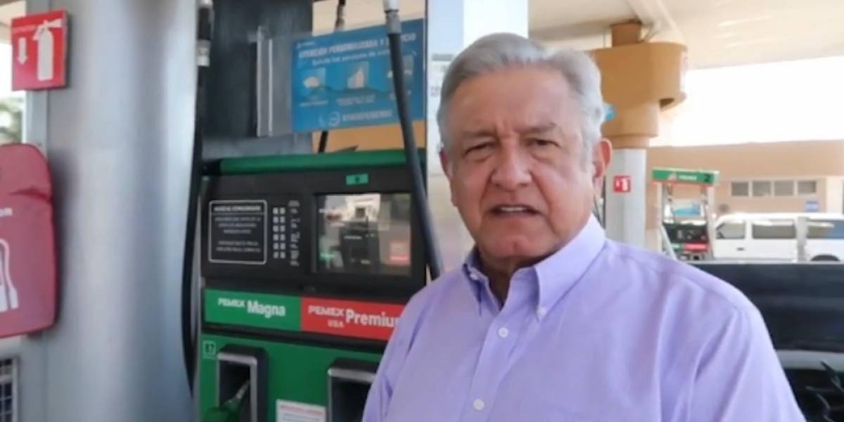 Promete AMLO gasolina accesible de llegar a la Presidencia