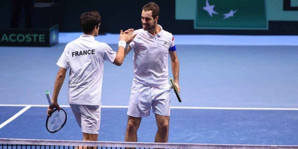Francia gana el dobles y queda a un punto de ganar la Copa Davis