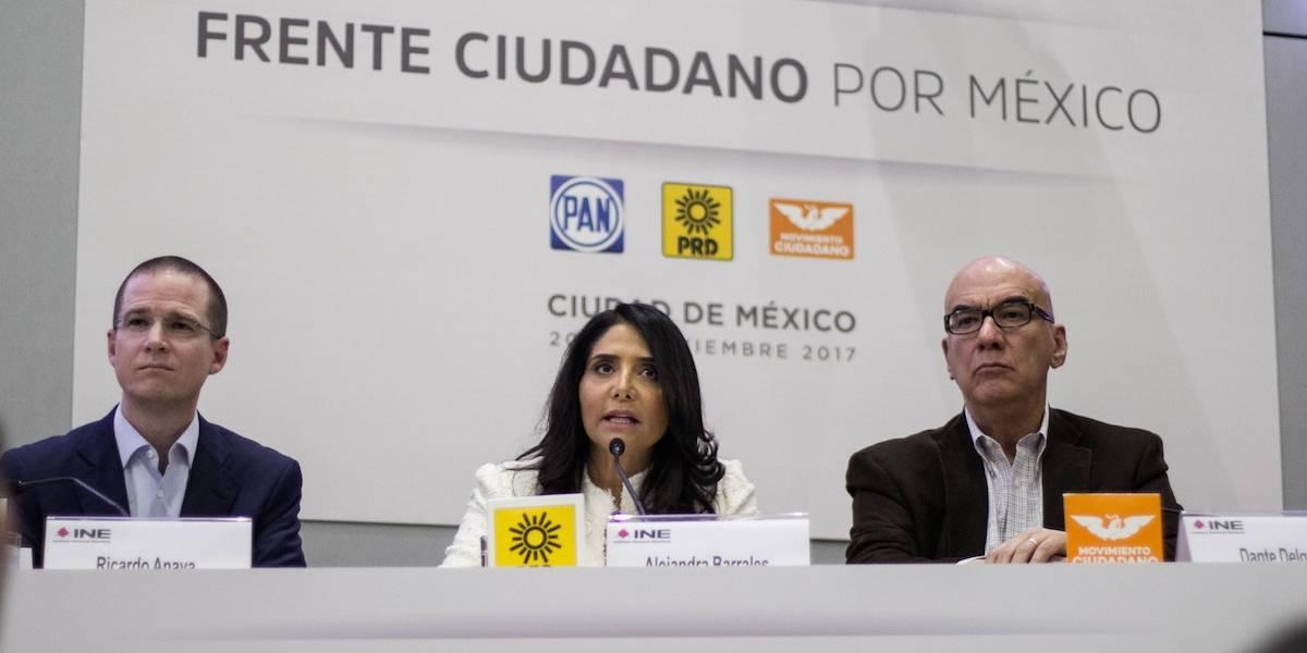 PAN, PRD y MC registrarán coalición ante el INE esta noche