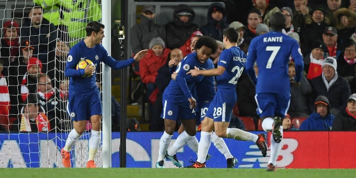 Chelsea rescata empate en su visita al Liverpool