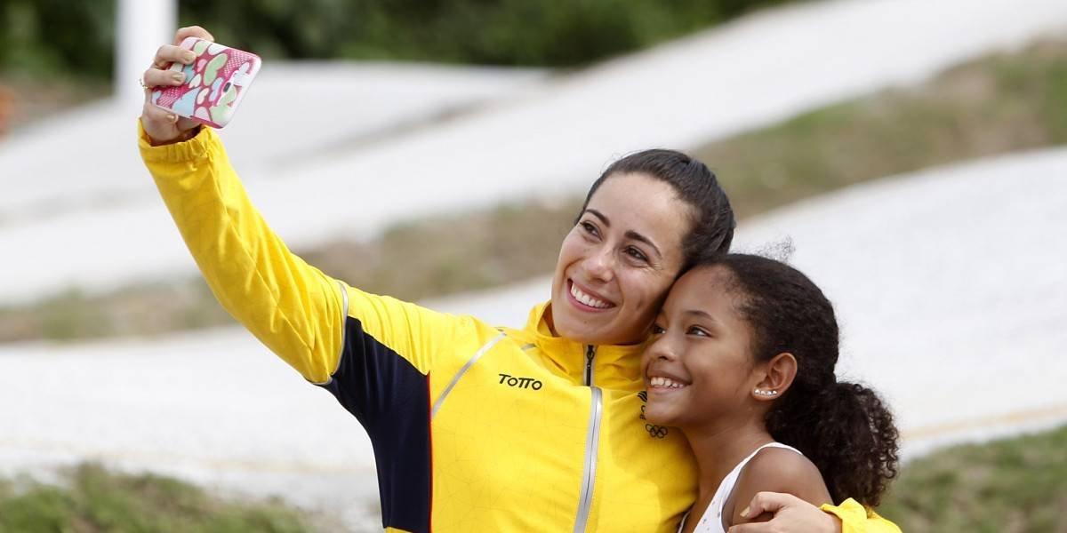 Mariana Pajón demostró que es una campeona dentro y fuera de las pistas