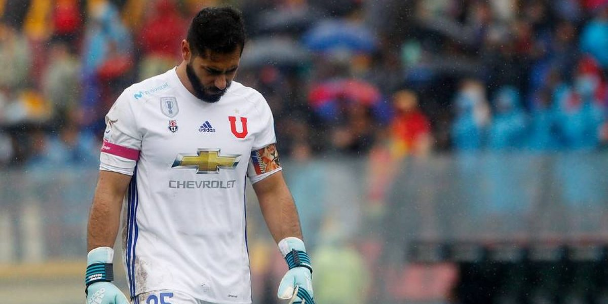 La U sin guardián: Johnny Herrera no jugará ante Audax Italiano