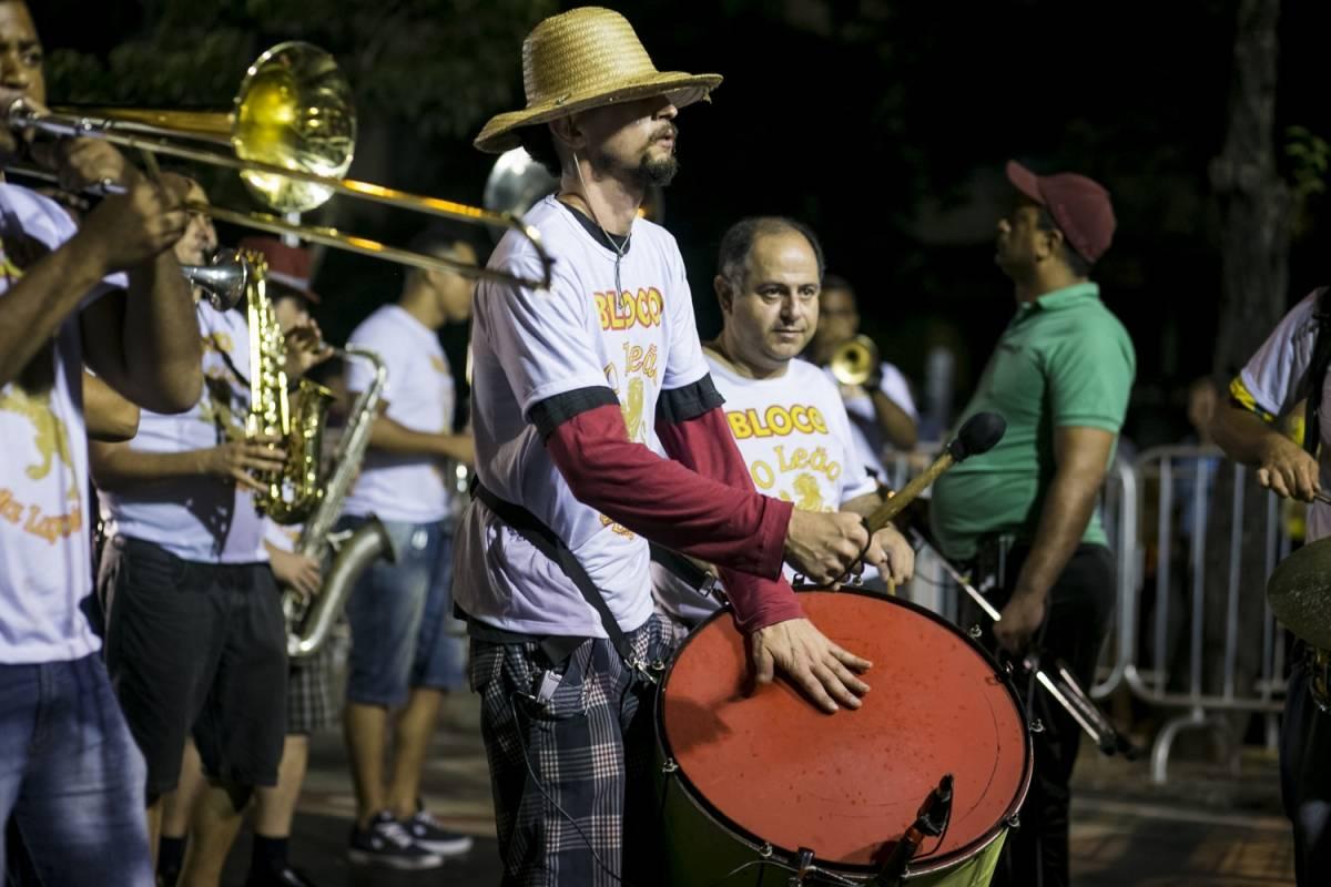 Integrantes com tambores e trompete Arquivo/Belotur